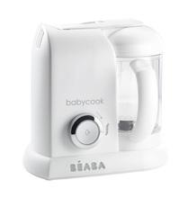 Aparat de gătit pe aburi si mixer Beaba Babycook® Solo alb-argintiu