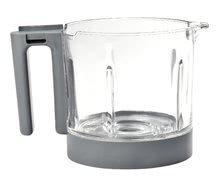 Vas din sticlă pentru aparatul de gătit Babycook® Neo glass bowl Beaba gri din sticlă de înaltă calitate
