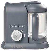 Aparat de gătit pe aburi si mixer Beaba Babycook® Solo Dark Grey de la 0 luni
