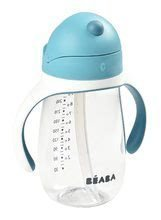 Fľaša bidon na učenie pitia Beaba Learning Cup 2in1 Windy Blue 300 ml so slamkou modrá od 8 mes SM913479