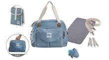 Prebaľovacia taška ku kočíku Beaba Geneva II kockovaná modrá 940199