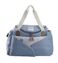 Prebaľovacia taška ku kočíku Beaba Sydney II kockovaná modrá 940203