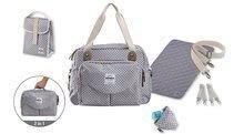 Prebaľovacia taška ku kočíku Beaba Geneva II New kockovaná šedá 940212