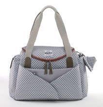 Přebalovací taška ke kočárku Beaba Sydney II New kostkovaná šedá 940213