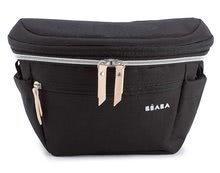 Přebalovací taška jako pásek Biarritz Changing Black Bag Beaba ledvinka na kočárek a kolo 3-11 litrů objem
