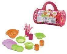 Dětský jídelní set Bubble Cook Écoiffier v tašce od 18 měsíců s 19 doplňky