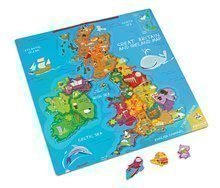 Magnetická mapa Velká Británie Magnetic Janod od 7 let 80 magnetů