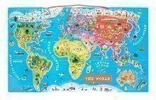 Magnetická mapa sveta Magnetic World Puzzle English Version Janod od 5 rokov 92 magnetov