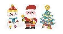 Dřevěné magnetické figurky Mikuláš a jeho přátelé Funny Magnets Janod v dárkovém balení od 18 měsíců 3 ks