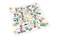Dětská společenská hra Labyrinth Alphabet Game Janod od 4 let angličtina-francouzština