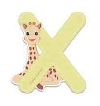 Drevené písmeno X Sophie The Giraffe Janod lepiace 7 cm béžové