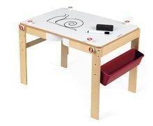 Drevená školská lavica a tabuľa Splash Janod 2v1 magnetická, polohovateľná s poličkou a doplnkami od