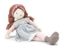 Bábika handrová Alma Rag Doll Threadbear z jemnej mäkkej bavlny so zapletenými hnedými vláskami v darčekovom balení od 0 mes TB4045