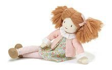 Bábika handrová Marty Rag Doll Threadbear z jemnej mäkkej bavlny s hnedými copmi v darčekovom balení od 0 mes TB4047