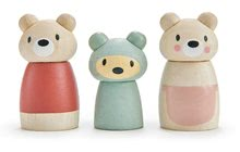 Drevená medvedia rodina Bear Tales Tender Leaf Toys otec a mama s medvedíkom