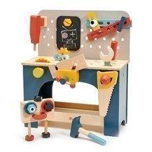 Drevená dielňa s robotom Table top Tool Bench Tender Leaf Toys s náradím a stavebnicou 42*26*49 cm TL8562
