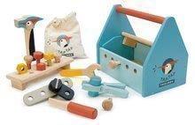 Drevený kufrík Tap Tap Tool Box Tender Leaf Toys s pracovným náradím a zatlkáčkou 23*15*20 cm TL8563