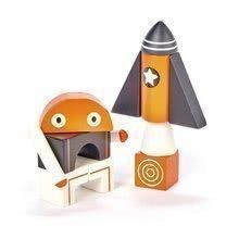 Drevená magnetická stavebnica Galaxy Magblocs Tender Leaf Toys 12 vesmírnych kociek vo vrecku