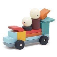 Drevená magnetická stavebnica Racing Magblocs Tender Leaf Toys 14 auto-kociek vo vrecku